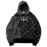 LAFAYETTE X DEE  PAISLEY ALLOVER HOODED SWEATSHIRT-BLACK