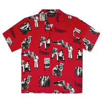 WASTED PARIS FAITHFUL ALL OVER SHIRT-RED