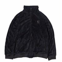 HELLRAZOR LOGO VELOUR JACKET   BLACK