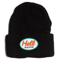 HELLRAZOR MARK PATCH KNIT CAP-BLACK