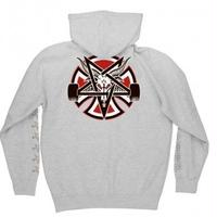 INDEPENDENT X THRASHER PENTAGRAM CROSS PULLOVER HOODIE H,GREY