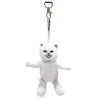 RIPNDIP LORD NERMAL PLUSH KEYCHAIN-WHITE