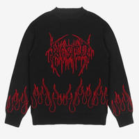WASTED PARIS UGLY DARK FIRE KNIT-BLACK/RED