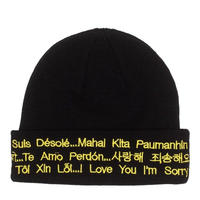 FUCKING AWESOME I LOVE YOU I'M SORRY BEANIE-BLACK/YELLOW