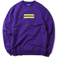 LAFAYETTE HIGH-VIS BOX LOGO CREWNECK SWEATSHIRT-PURPLE