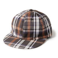 INTERBREED PATTERNED BALL CAP-BROWN PLAID