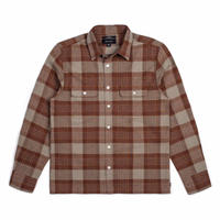 BRIXTON MARTEL JASON JESSEE L/S FLANNEL   BROWN/GREY