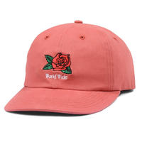 BUTTER GOODS ROSA 6 PANEL CAP    RED