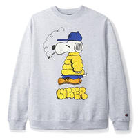 BUTTER GOODS LO GOOSE CHAMPION CREWNECK- S, GREY