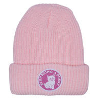 RIPNDIP STOP BEING A PUSSY RIBBED BEANIE    PINK