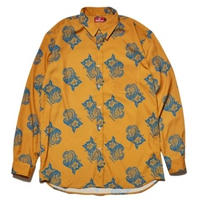 HELLRAZOR PAISLEY DRESS SHIRTS-YELLOW