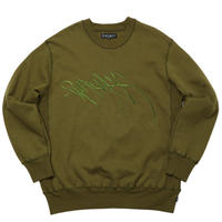 WHIMSY RUNNERZ REJECT LOGO CREWNECK-OLIVE