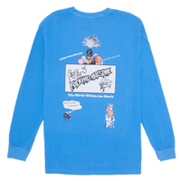 FUCKING AWESOME COLORMOVIE PIGMENT L/S TEE-BLUE