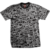 BAKER SKATEBOARDS  MANIAC TEE    BLACK