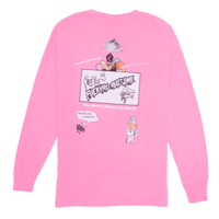 FUCKING AWESOME COLORMOVIE PIGMENT L/S TEE-PINK