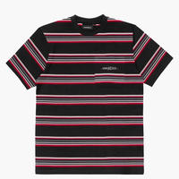 WASTED PARIS STRIPES S/S TEE-BLACK/RED