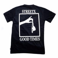 STREETX GOOD TIMES  TEE     BLACK