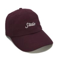 STUDIO SKATEBOARDS SMALLSCRIPT CAP-BURGUNDY
