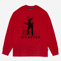 WASTED PARIS DISASTER L/S TEE-RED