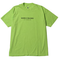 BORNXRAISED CORPORATE TEE  NEON GREEN