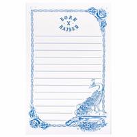 BORNxRAISED STATIONARY NOTEPAD  FORGET ME NOT