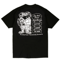 BUTTER GOODS XLABOR CITY WIDE TEE   BLACK