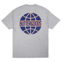 BUTTER GOODS KEYLINE WORLDWIDE LOGO TEE  H,GREY