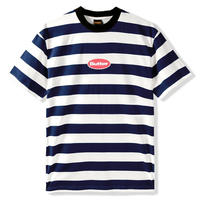 BUTTER GOODS BADGE STRIPE TEE-NAVY