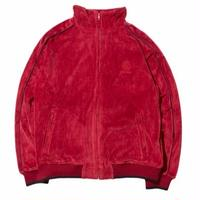 HELLRAZOR LOGO VELOUR JACKET  BURGUNDY