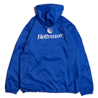 HELLRAZOR TRADEMARK LOGO PULLOVER  JACKET ROYAL BLUE
