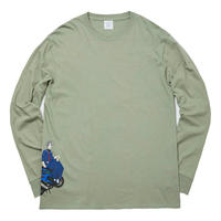 WHIMSY HIROSUE L/S TEE-SLATE GREEN