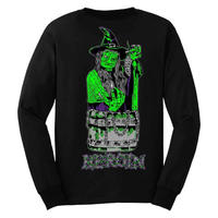 HEROIN SKATEBOARDS DITCH WITCH L/S TEE-BLACK