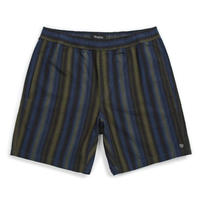 BRIXTON STEADY ELASTIC WAISTBAND SHORTS-NAVY/GREEN