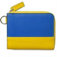 INTERBREED GENUINE LEATHER BICOLOR WALLET BLUEXYELLOW