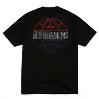 BUTTER GOODS  ATHLETIC S/S TEE  BLACK