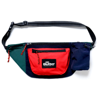 BUTTER GOODS SANTOSUOSSO UTILITY BAG-NAVY/RED/GREEN