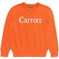 CARROTS WORDMARK KNIT SWEATER-ORANGE