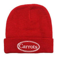 CARROTS WARDMARK KNIT BEANIE-RED