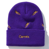 CARROTS ALLOVER CARROTS BEANIE PURPLE