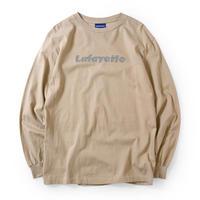 LAFAYETTE CHECK LOGO L/S TEE-BEIGE