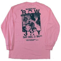 BOW3RY MINORS L/S TEE P,PINK