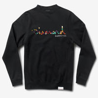 DIAMOND SUPPLY CO OG SCRIPT FASTENCREWNECK-BLACK
