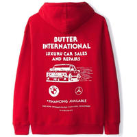 BUTTER GOODS M3 PULLOVER, RED