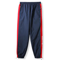 BUTTER GOODS RUNNER TRACKSUIT PANT- NAVY / RED