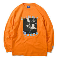 LAFAYETTE X NAS WORLD IS YOURS L/S TEE - ORANGE