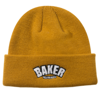 BAKER SKATEBOARDS ARCH CUFF BEANIE  CAMEL