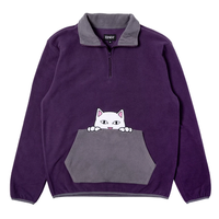 RIPNDIP PEEK A NERMAL BRUSHED FLEECE-PURPLE