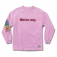 GRIZZLY XGRATEFUL DEAD ACID TEST L/S TEE  PINK