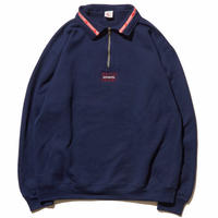 HELLRAZOR LINING HARF ZIP SWEATER NAVY