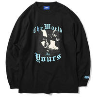 LAFAYETTE X NAS WORLD IS YOURS L/S TEE -BLACK